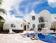 Zeeschelp huis in Mexico