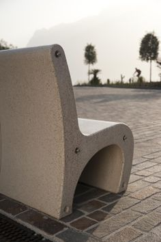 GEA bench with sunset in #Torbole. #Bellitalia street furniture