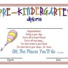 Pre-K and Kindergarten Graduation diploma- free download
