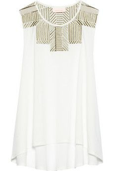 Sass & bide Along The Way embellished cotton-jersey top | NET-A-PORTER