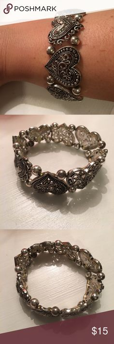 Brighton inspired bracelet, hearts This is really pretty.  It stretches. Jewelry Bracelets