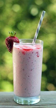 Strawberry Mint Milkshakes