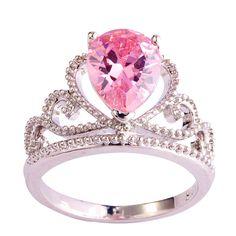 Lingmei mode kronprinzessin aaa multi-color cz silber ring größe 6 7 8 9 10 11 Frauen Schmuck Kostenloser Versand großhandel