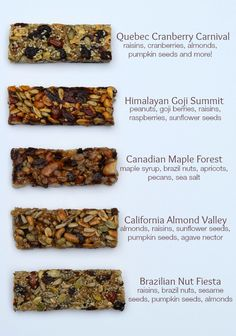 These Taste of Nature snack bars are amazing, all fresh ingredients nuts, berries, and agave. Great snack for a weekend getaway, soccer game or backyard party! Quick Lunch Recipes, Easy Soup Recipes, Real Food Recipes, Yummy Snacks, Healthy Snacks, Traditional Bread Recipe, Cake Recipes For Beginners, Taste Of Nature, My Favorite Food