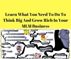 Learn What You Need To Do To Think Big And Grow Rich In Your MLM Business. You will learn that you become a better leader. You will build your self esteem..