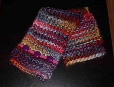 Con lana bien gordita ¡una bufanda en una hora!