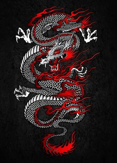 Hand-crafted metal posters designed by talented artists. We plant 10 trees for each purchased Displate. chinese dragon tattoo Samurai Katana, Tori Gate and. by Cornel Vlad Japanese Dragon Tattoos, Japanese Tattoo Art, Japanese Art, Asian Dragon Tattoo, Japanese Wolf, Japanese Prints, Rauch Tattoo, Dragon Wallpaper Iphone, Screen Wallpaper