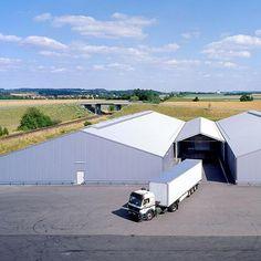 Lagerhallen dreischiffig Typ Alu #Industriehallen #Lagerzelte #Lagerhallen