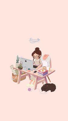 Illustration by Senny Cartoon Cartoon, Cartoon Kunst, Anime Kunst, Anime Art, Art And Illustration, Illustrations, Kawaii Wallpaper, Girl Wallpaper, Wallpaper Ideas