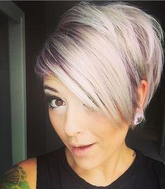 Oh hey white hair ♥ - Hair - Lilac Hair Short Sassy Hair, Cute Hairstyles For Short Hair, Pretty Hairstyles, Short Hair Cuts, Short Hair Styles, Pixie Cuts, Love Hair, Great Hair, Corte Y Color