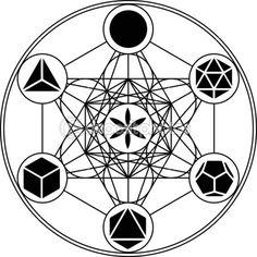 Metatrons cube - solides de Platon — Illustration #33063223