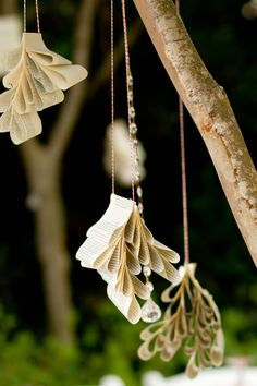 teardrop book ornaments