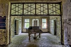 A Piano left to rot in anabandonedasylum.http://www.flickr.com/photos/odins_raven/6256773964/