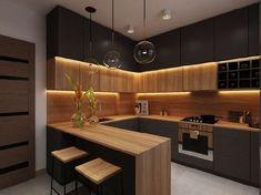 Kitchen Room Design, Kitchen Cabinet Design, Kitchen Layout, Home Decor Kitchen, Interior Design Kitchen, Kitchen Furniture, Wooden Furniture, Cabinet Furniture, Modern Kitchen Cabinets