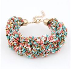 03ff9d0b38a6 Online Shop Sunshine Bohemian style colourful beads charm Bracelets Suit  For Women gift Evening Dress fashion fine jewelry hot selling