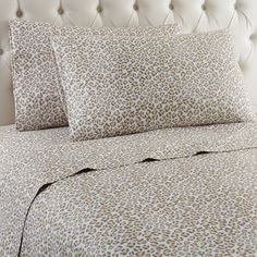 Shavel Home Products Micro Flannel Sheet Set, King, Leopard ** Awesome product. Click the image (This is an amazon affiliate link. I may earn commission from it)