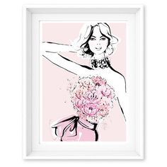 Limited Edition Print - The Peonies. Layered in Petals - Megan Hess