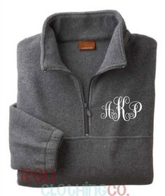 SALE Monogrammed Quarter Zip Pullover by RedElephantClothing, $35.00