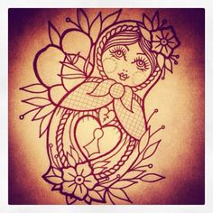 Defo next tattoo need a baby doll with it as well! Going one thigh x