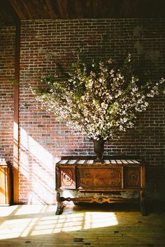 Barn wall decoration spring wedding, spring branches for reception styling simple and natural