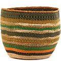 African Basket - Ghana Bolga - Storage Basket - 12 Inches Across - #62193