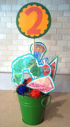 The Very Hungry Caterpillar Party- Table Centerpiece. $12.00, via Etsy.