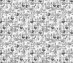 Guitars fabric by mandakay on Spoonflower - custom fabric