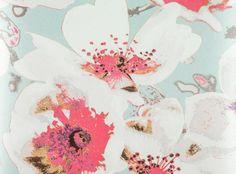 RomoBlack - Eden Wallcovering Amaranth - Xanthina Wallcoverings : Designer Fabrics & Wallcoverings, Upholstery Fabrics