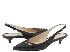3da3203a5fb Cole Haan Nanette Slingback Kitten Heel Black Size 9 1 2B  125.00. Cole  Haan s reputation for quality and incredible craftsmanship continues with  the ...