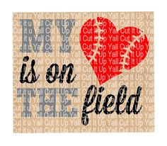 My Heart is on the Field Svg-Dxf-Pdf, Cutting  Files For Silhouette Cameo & Cricut, Baseball Svg, Sports Svg, Mom Svg. by CutItUpYall on Etsy