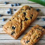Blueberry+Zucchini+Bread: #zucchinibread made with #blueberries #dairyfree #glutenfree #norefinedsugar #gardenfreshfoodie www.gardenfreshfoodie.com