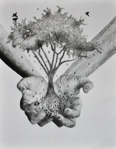 Hands Holding A Tree by Sarah248 on DeviantArt