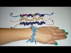 YouTube Wire Wrapped Jewelry, Beaded Jewelry, Beaded Bracelets Tutorial, Wire Crochet, Crochet Bracelet, Macrame Projects, Beads And Wire, Crochet Accessories, Jewelry Patterns
