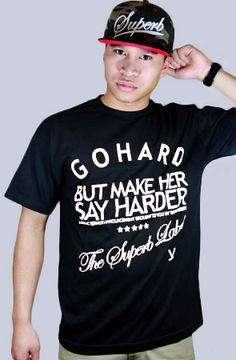The Go Harder Tee in Black by SUPERB