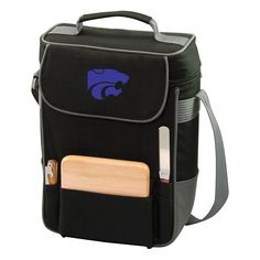 Kansas State Wildcats Insulated Wine Cooler, Black