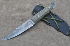 Hand Forged Tactical Mark 1 Pack Knife by Mark Mccoun