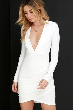 Got a Ruche On You Ivory Bodycon Dress at Lulus.com!