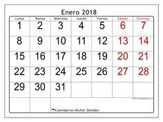 Calendario para imprimir enero 2018 - Emericus