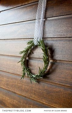 Rosemary Wreath – DIY