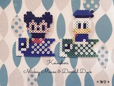 Hama Beads Patterns, Beading Patterns, Bead Crafts, Diy And Crafts, Mickey Mouse Donald Duck, Perler Bead Art, Pearler Beads, Cross Stitching, Kids Rugs