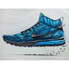 By Ikhsan Noor Erlangga - Nike shoe sketch. Love this!