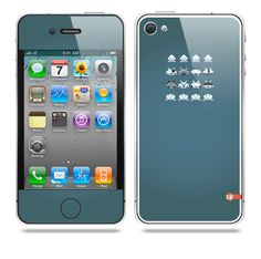 Invader from Space Blue iPhone skin by TAJTr