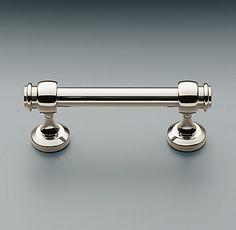 Half bath-Lugarno TP holder, towel bar and rectangle mirror