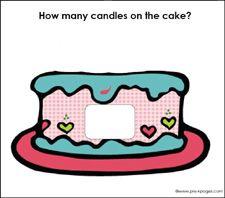 Free Play Dough Birthday Cake #Counting Mat via www.pre-kpages.com #preschool #kindergarten #math