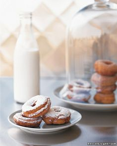 Circular Foods are Lucky: Cake Doughnuts - Martha Stewart Recipes