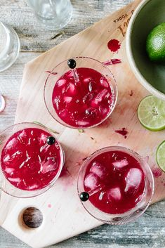 Fresh Beet, Citrus + Ginger Cocktail | the year in food