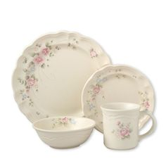 pfaltzgraff dishes | Pfaltzgraff Tea Rose Dinnerware Set, 64 pc. - Verne had worked on the models for some of this line...