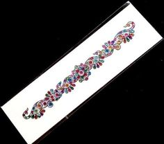 Arm-Cuff-20-cm-Multi-Crystals-on-Silver-Adhesive-Bracelet-Anklet-001