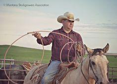 #Montana cowboy at Wang Ranch Branding. ~ Montana Stockgrowers Association ~