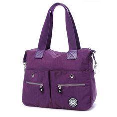Women Nylon Multi Pockets Tote Handbags Outdoor Shoulder Bags Sports Waterproof Crossbody Bags - Banggood Mobile